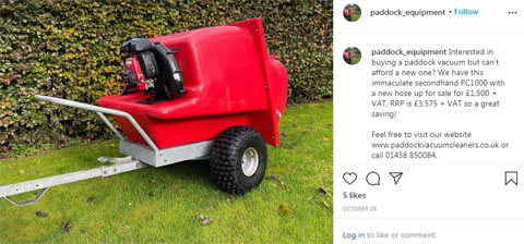 Instagram - Paddock Vacuum Cleaners UK